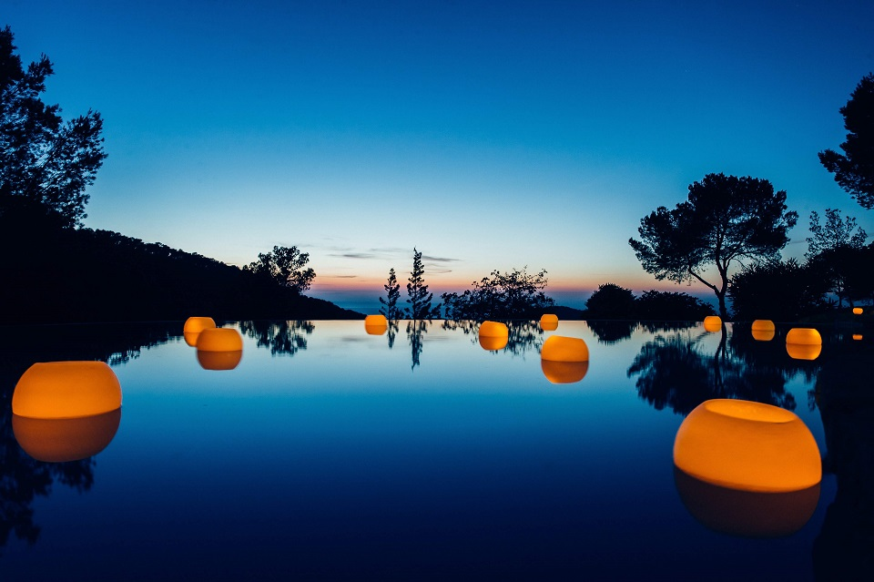 Ibiza wedding candles